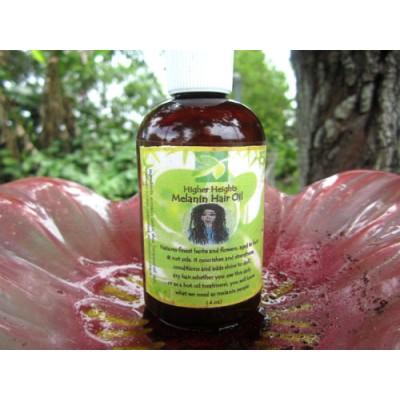 Melanin hair oil